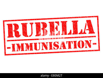 RUBELLA IMMUNISATION red Rubber Stamp over a white background. - Stock Photo
