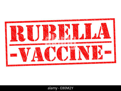RUBELLA VACCINE red Rubber Stamp over a white background. - Stock Photo