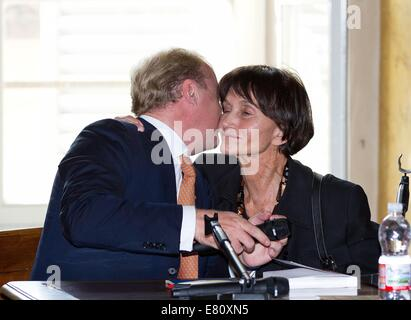 Parma, Italy. 27th Sep, 2014. Princess Maria Teresa de Bourbon Parme and Prince Carlos de Bourbon Parme during the - Stock Photo