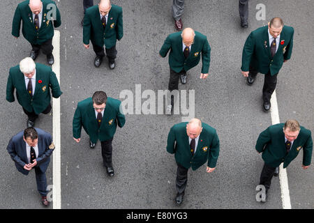 London, UK. 27th Sept, 2014.  Lord Carson memorial parade march through central London 2014 Credit:  Guy Corbishley/Alamy - Stock Photo