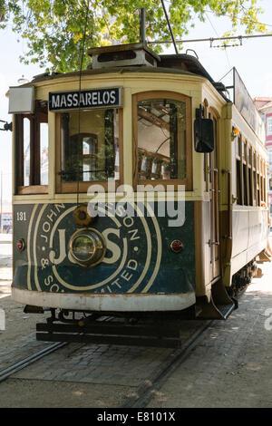 Oporto tram Portugal - Stock Photo