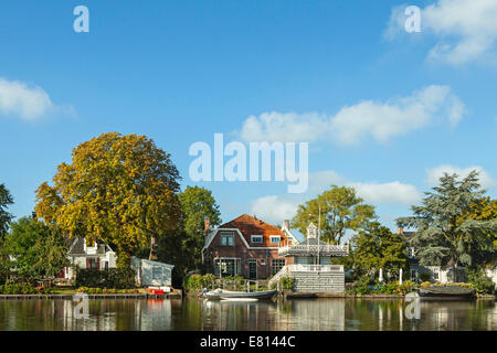 View on 't Havenrak in Broek in Waterland, a charming, historic village on a perfect summer day, North Holland, - Stock Photo