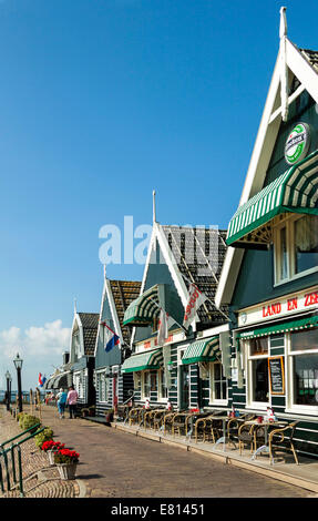 Marken, Waterland, North Holland, The Netherlands: Popular by tourists and known for its characteristic old wooden - Stock Photo