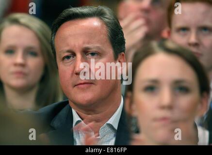 DAVID CAMERON MP PRIME MINISTER 28 September 2014 ICC BIRMINGHAM ENGLAND - Stock Photo