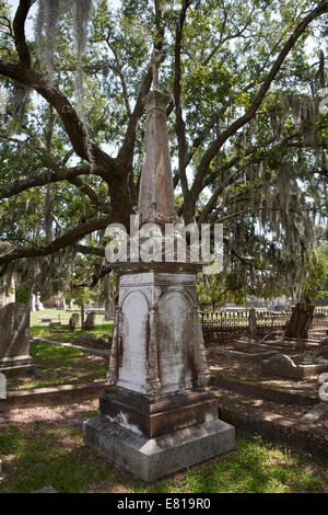 Grave of Henry Edward Young, major in the Confederate Army and Judge Advocate General of the Army of Northern Virginia - Stock Photo