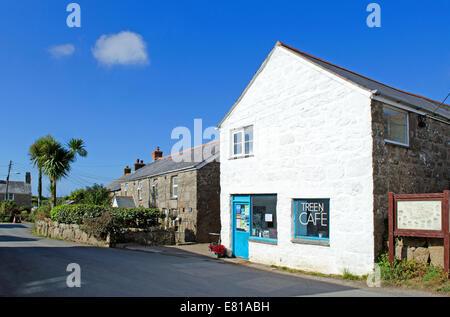 The hamlet of Treen near Porthcurno in Cornwall, UK - Stock Photo