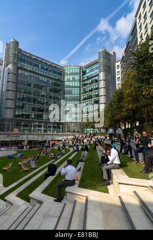 Sheldon Square, Paddington Basin, London, UK - Stock Photo