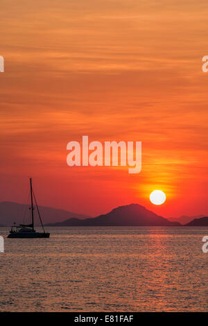Sunset on Flores - Stock Photo
