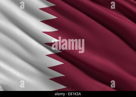 Flag of Qatar - Stock Photo