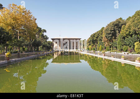 Chehel Sotun Palace, Isfahan, Isfahan Province, Persia, Iran - Stock Photo