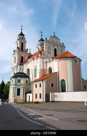 St Catherine's Church, Vilnius, Lithuania, Baltic States - Stock Photo