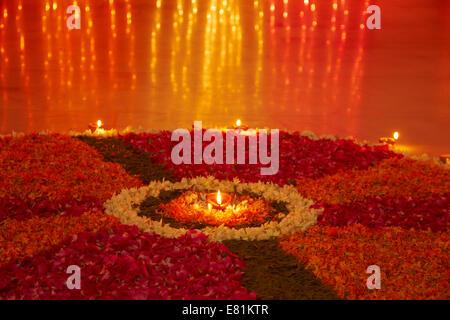 indian Festival diwali Rangoli - Stock Photo