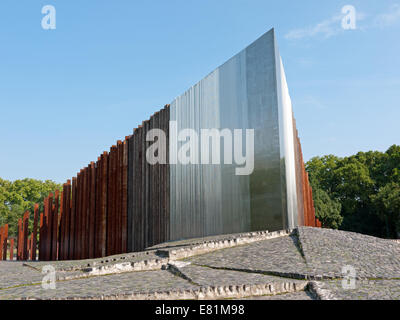 Monument of the 1956 revolution in the City Park, Budapest, Hungary - Stock Photo