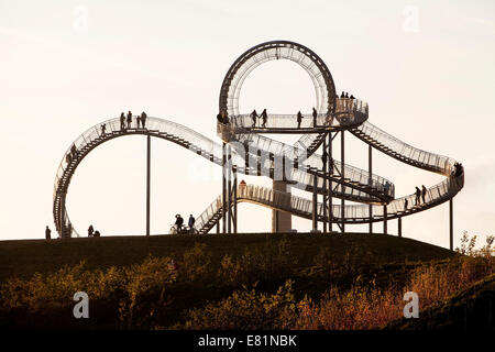 Landmark Tiger & Turtle - Magic Mountain, walk-in sculpture, Anger Park, Duisburg, North Rhine-Westphalia, Germany Stock Photo
