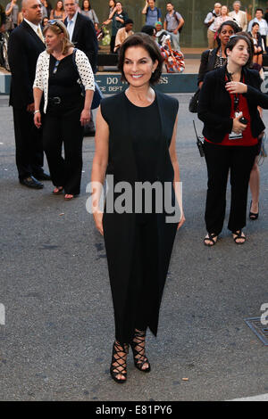 NEW YORK-SEP 26: Actress Sela Ward attends the world premiere of 'Gone Girl' at the 52nd New York Film Festival - Stock Photo