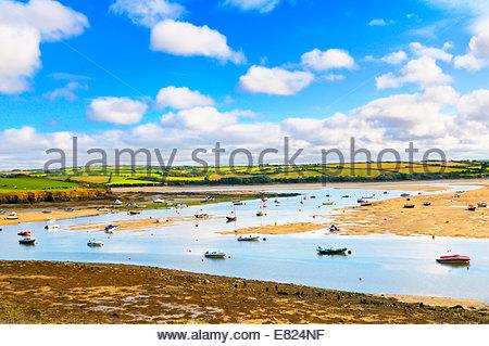 The Camel Estuary, North Cornwall, UK - Stock Photo