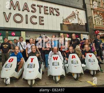 Oxford Street, London, UK. 28th Sep, 2014. Picture By: Charlie Bryan Picture :HMV Oxford Street London, John Otway - Stock Photo