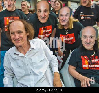Oxford Street, London, UK. 28th Sep, 2014. HMV Oxford Street London, John Otway : John Otway launches his DVD' Otway - Stock Photo