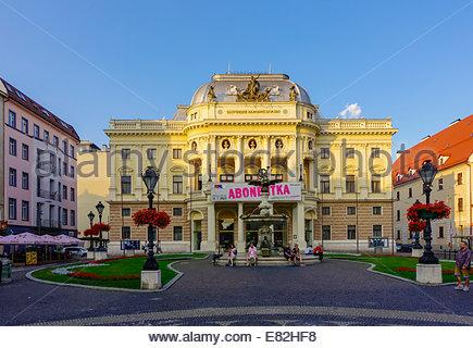 Slovakia, Bratislava, National Theatre - Stock Photo