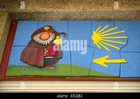 Spain Way Of St James Tile Picture While Road Icon Of