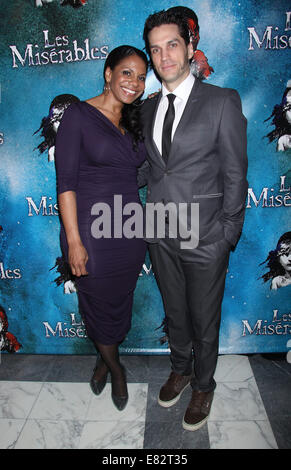 Opening Night After Party for Broadway's Les Miserables at the Imperial Theatre - Arrivals.  Featuring: Audra McDonald,Will - Stock Photo