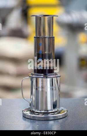 Freshly brewed coffee - Stock Photo