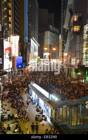 Hong Kong. 29th Sep, 2014. Hong Kong Protests: Thousands of young people wearing black T-shirts take part in the - Stock Photo