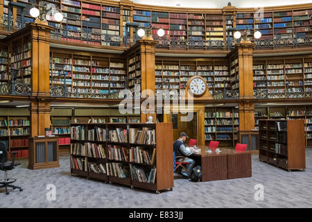 Liverpool Central Library interior, Picton Reading Room, William Brown Street, Liverpool, Merseyside, England UK - Stock Photo