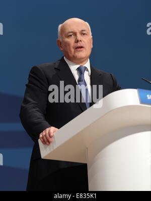 IAIN DUNCAN SMITH MP SECRETARY OF STATE FOR WORK AN 29 September 2014 ICC BIRMINGHAM ENGLAND