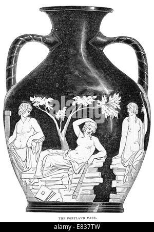 British Museum The Portland Vase Illustration Stock Photo