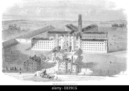 New City Prison Holloway London circa 1885 - Stock Photo