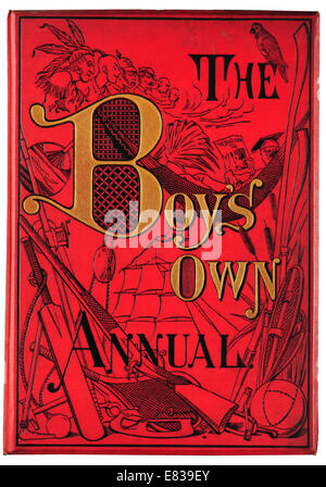 Front cove The Boy's own Annual 1885 - Stock Photo