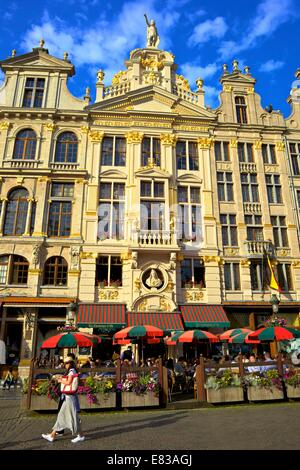 Guild Houses, Grand Place, Brussels, Belgium, North West Europe - Stock Photo