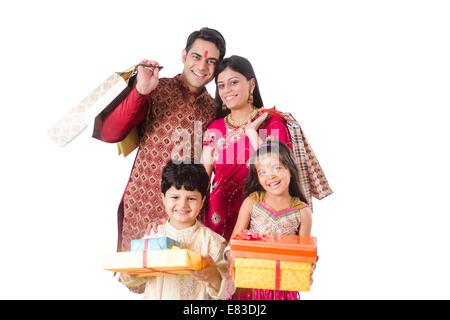 indian Diwali Festival Gift Shopping - Stock Photo