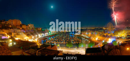 GB - DEVON: Torquay Harbour by night - Stock Photo