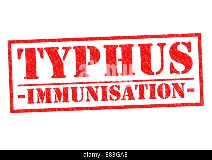 TYPHUS IMMUNISATION red Rubber Stamp over a white background. - Stock Photo