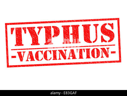 TYPHUS VACCINATION red Rubber Stamp over a white background. - Stock Photo