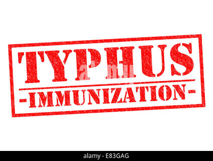 TYPHUS IMMUNIZATION red Rubber Stamp over a white background. - Stock Photo