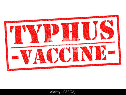 TYPHUS VACCINE red Rubber Stamp over a white background. - Stock Photo