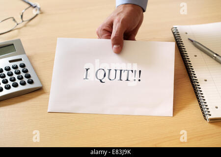 Quitting your job - Stock Photo