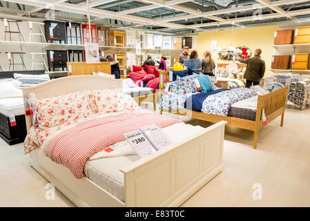 Beds And Bedroom Furniture In Ikea London England Uk Stock Photo Alamy