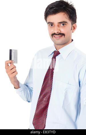 Indian business man showing credit card stock photo 73844165 alamy indian business man showing credit card stock photo reheart Images