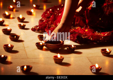 indian Festival Diwali Decoration - Stock Photo