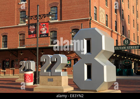 Oriole Park in Camden Yards, Baltimore, Maryland, USA - Stock Photo