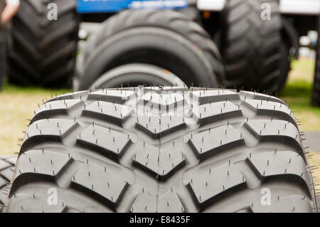 Tyre (Tire) Tread on a Tractor Tyre (Tire) - Stock Photo