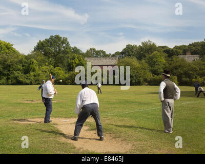 Sept. 28, 2014 - Old Bethpage, New York, U.S - At the Old Time Base Ball League game, umpire GARY MONTI, of Westbury, - Stock Photo