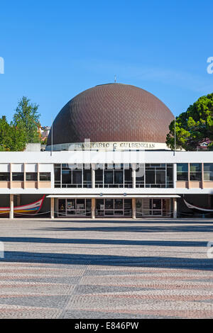 Calouste Gulbenkian Planetarium in Belém, Lisbon, Portugal. - Stock Photo