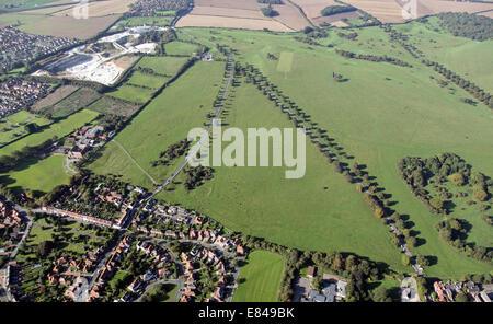aerial view of Beverley Westwood, East Yorkshire, UK - Stock Photo