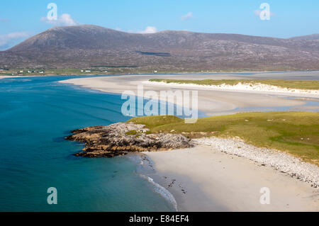 Luskentyre Beach on the west coast of the Isle of Harris in the Outer Hebrides. - Stock Photo