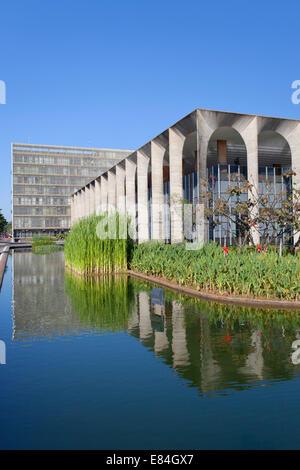 Itamaraty Palace, Brasilia, Federal District, Brazil - Stock Photo